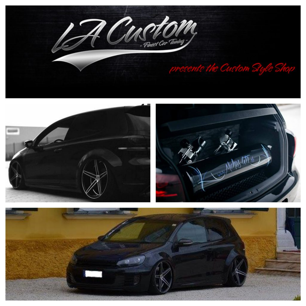 micha s vw golf vi mit gas v2 airride la custom. Black Bedroom Furniture Sets. Home Design Ideas